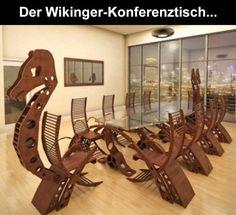 Darf in keinem Büro fehlen: Der Wikinger-Konferenztisch | Webfail - Fail Bilder und Fail Videos