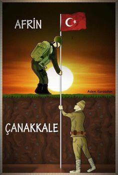 TEK BAYRAK! TEK MİLLET! TEK VATAN!  #18mart #canakkale #afrin
