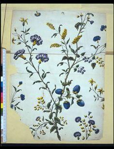 Design for #wallpaper by John Baptist Jackson, England, 1738-53. l Victoria and Albert Museum