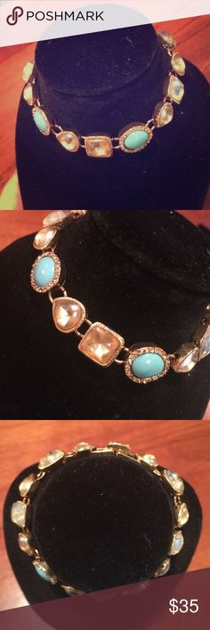 Girly Girl Faux Stone Bracelet Never Worn   Excellent Condition   Faux Stones   Baby Blue Stones   Incandescent Stones   Fold Over Clasp   Gold Detailing   🚫 Trades   Feel Free to Ask Questions 🙋🏼  More 📷 Upon Request   Bundles & Offers are Welcomed ❤️  Jewelry Bracelets