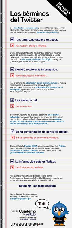Los terminos de Twitter en Español – #infografia #infographic... Repinned by @jagtomas #ixu