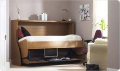 Multifunctional Study Desk and Bed for Small Teen Room