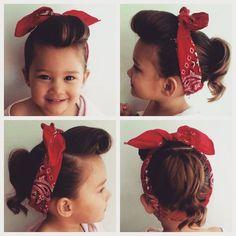 50 rockabilly toddler hair More