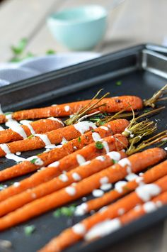 Roasted Carrots with Lemon Tahini Drizzle