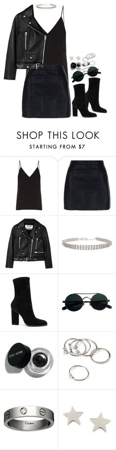 """""""Untitled #1700"""" by breannaflorence ❤ liked on Polyvore featuring Raey, New Look, Acne Studios, Humble Chic, Alexander Wang, Bobbi Brown Cosmetics, Forever 21, Cartier and Daisy Knights"""