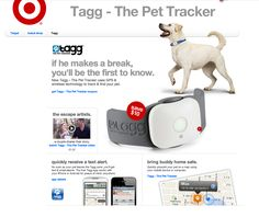 Tagg - the pet tracker _ http://www.target.com/c/brand-shop-Tagg/-/N-56eve?intc=null_dvmy12c0026v000313i002071_null