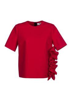 MSGM Msgm Ruffle Side Blouse. #msgm #cloth #topwear