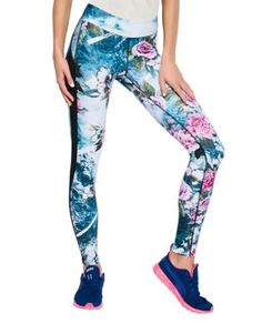 Himalaya Floral-Mountain Print Leggings
