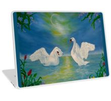 Laptop Skin,  swans,blue,unique,cool,beautiful,trendy,artistic,unusual,accessories,ideas,design,items,products,for sale,redbubble
