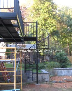 Charlottesville Virginia Spiral Staircase by Appalachian Ironworks