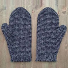 Tunisian crochet mittens - free pattern                                                                                                                                                                                 More