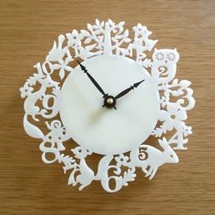 My favorite clock for the kitchen from Decoylab on Etsy. It will be mine, oh yes, it will be mine.