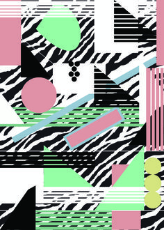 GEO 80'S PRINT PATTERN by ainams©