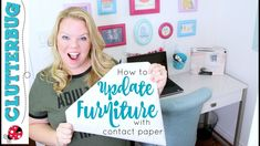 Clutterbug How to Update Furniture with Contact Paper! Tv Stand Makeover, Bookshelf Makeover, Diy Tv Stand, Diy With Contact Paper, Diy Marble Contact Paper, Diy Furniture Ikea, Furniture Makeover, Sticky Back Plastic, Diy Desk