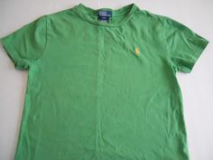 POLO by Ralph Lauren Boys T-Shirt Green Size S (8) Very Good Condition #PolobyRalphLauren