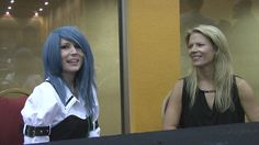 Mary Elizabeth McGlynn and Victoria Paege at the 2012 Saboten Con