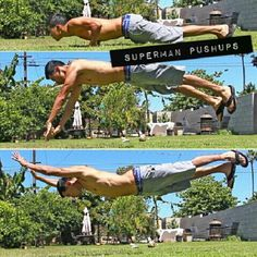 Superman push-ups