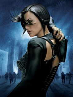 Charlize Theron - Aeon Flux!! ...any Charlize Theron (sans Monster), is awesome Charlize Theron...but with dark hair she just smolders