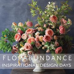 Florabundance Inspirational Design Days is only 8 Weeks Away!! . The dates are January 14-17, 2018 in Santa Barbara, California. Truly a wonderful way to start off a new year - surrounded by fellow flower lovers in beautiful California. . This year we'll be treated to hands-on design experiences with @tulipinadesign (she designed the arrangement seen here), @bowsandarrowsflowers , @hollychapple , @hitomigilliam , and @myrtieblue  Plus, I'll be there giving a presentation - can't wait! . Hop…