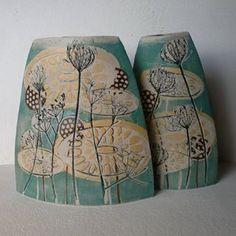 terrain vallonne ceramics at DuckDuckGo Pottery Tools, Slab Pottery, Ceramic Pottery, Pottery Ideas, Ceramic Decor, Ceramic Vase, Pottery Handbuilding, Clay Vase, Pottery Sculpture