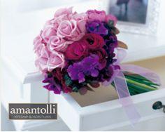 Bouquet en tonos morados y rosas