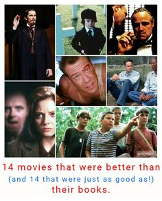 14 movies that were better than the book (and 14 that were just as good as their books!)
