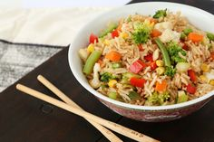 This recipe was often on the menu when my kids were growing up as it was a great way to get them to eat their veggies. Serve with some lean protein. Vegetable Fried Rice, Fried Vegetables, Veggies, Diabetic Recipes, Diet Recipes, Cooking Recipes, Different Vegetables, Lean Protein, Fries