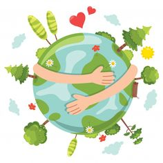Items similar to Mother Earth - Go Green - Earth Day, Every Day on Etsy Earth Day Clip Art, Belle Image Nature, Earth Drawings, Earth Day Drawing, Save Planet Earth, Save Environment, Earth Day Crafts, Love The Earth, Green Earth