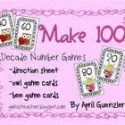 FREE Valentine Math Game - Make 100  This 1st grade FREEBIE includes:  -direction sheet -owl game cards -bee game cards  Partners or small groups c...