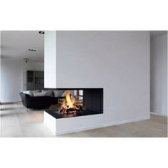 Great modern indoor fireplace