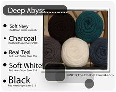 Deep Abyss Trendy Red Heart Color Mix