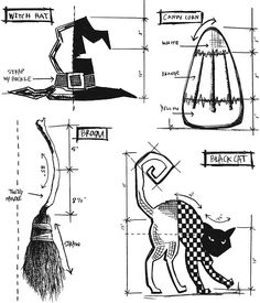 Stampers Anonymous - Tim Holtz - Cling Mounted Rubber Stamp Set - Halloween Blueprints 3