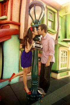 disneythis-disneythat This is a cute Disney wedding announcement picture!