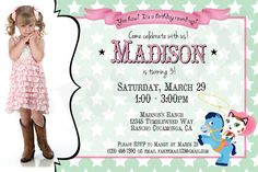 Sheriff Callie Birthday Invitation with Photo  by ThisWiddlePiggy, $12.00
