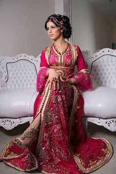 Traditional Syrian wedding dress. This style goes back to the early 20th century.