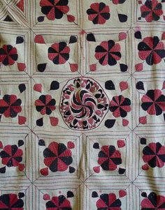 Sri | An Absolutely Beautiful Bengali Kantha: Millions of Stitches