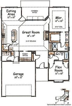Two-Bedroom House Plan with Options - 40525DB | Southern, Narrow Lot, 1st Floor Master Suite, CAD Available, PDF | Architectural Designs