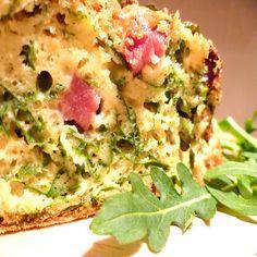 plumcake rucola e pancetta
