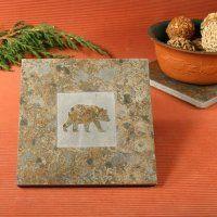 Natural Stone Trivet: Bear - $17.50