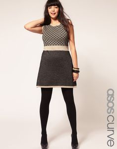 Full figure shift dress from Asos. One of the best never go out of style ensembles!