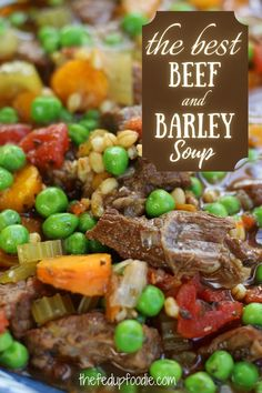 A fall and winter classic, this Beef and Barley Soup is hearty, healthy and so delicious. #BeefBarleySoup #BeefBarleySoupRecipe #BeefAndBarleySoup #InstantPotBeefBarleySoup #ClassicBeefBarleySoup