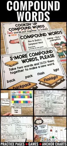 Are your students working on compound words? This pack has three anchor charts, three games, spinner activities, and several practice pages. These compound word activities will give your students the practice they need in a fun and engaging way!