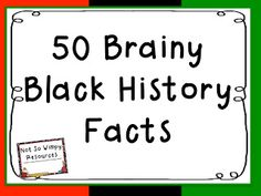 The Diary of a Not So Wimpy Teacher: Happy Black History Month Black History Month People, Black History Month Facts, Black History Month Activities, World History Lessons, History Quotes, Nasa History, Happy Black, History Timeline, History Teachers