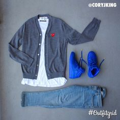 Today's top #outfitgrid is by @coryjking. ▫️#CommedesGarçons #Cardigan…