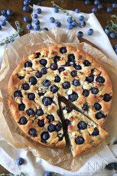 Gluten Free Blueberry Goat Cheese Focaccia - Nutmeg Nanny