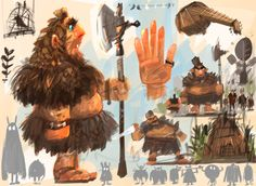 Early-man Character Design