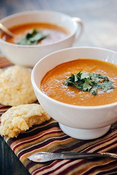 Sweet Spiced Pumpkin Soup-- just replace butter with coconut oil, and add more coconut milk instead of sweetened condensed and you have a really healthy soup! Then it will be Paleo