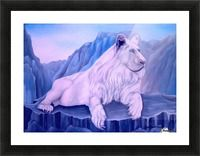 Framed Art Print,  wildlife,lion,animal,nature,mountains,scene,big,cat,mamal,rocks,cliffs,white,blue,beautiful,image,fine,oil,painting,contemporary,scenic,modern,virtual,deviant,wall,art,awesome,cool,artistic,artwork,for,sale,home,office,decor,decoration,decorative,items,ideas