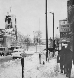 Fifty years ago this week, Attleboro emerged from its third snowfall of the season. Attleboro Massachusetts, Vacation Memories, 50 Years Ago, New England, Times Square, Maine, Nostalgia, Arch, Childhood