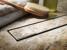 Elegant Shower Drain Line With Tile